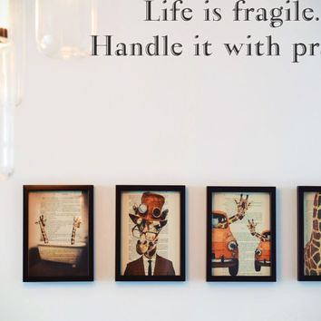 Life is fragile. Handle it with prayer Style 18 Vinyl Decal Sticker Removable
