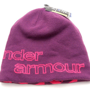 Under Armour Reversible Purple Berry Beanie Winter Men/Women One Size