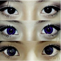 GEO Hurricane Violet Circle Lenses Colored Contacts Cosmetic Color Circle Lens | EyeCandy's