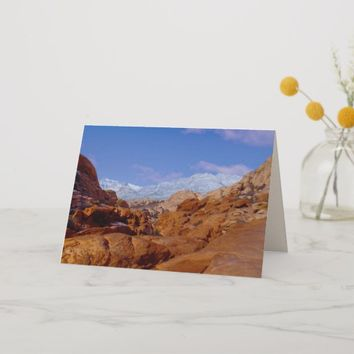 Snow in Red Rock Canyon, Las Vegas NV Blank Inside Card