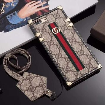 GUCCI Fashion iPhone X XR XS XS MAX Phone Cover Case For iphone 6 6s 6plus 6s-plus 7 7plus 8 8plus X