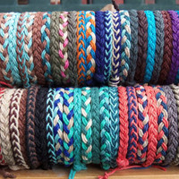 1 Braided HEMP ANKLET - Choose Your own Colors - for Men or Women - Hippie Surfer Braided Hemp Anklet