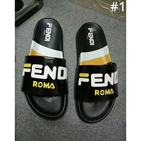 Fendi 2019 new street fashion men and women decals casual beach sandals #1