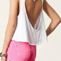 heart Cut Off Tank Top