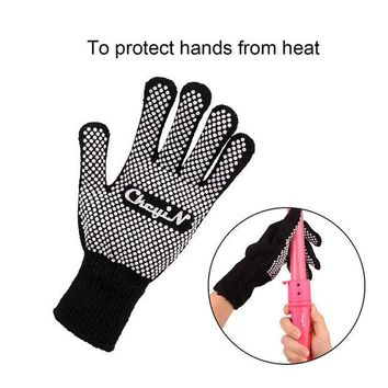 DCCKL72 Heat Resistant Cotton Yarn Finger Glove Hair Straightener Curling Hairdressing High Temperature Resistant Anti-scald HS126-S4849