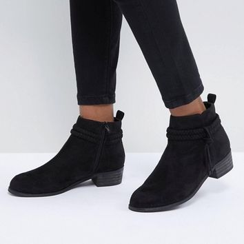 Boohoo Plaited Ankle Boot at asos.com