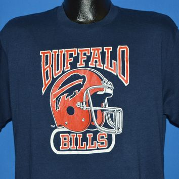 80s Buffalo Bills Football Helmet t-shirt Large