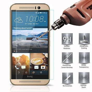 HD Tempered Glass For HTC One Max A9 Butterfly 3 820 M7 M8 Mini Desire EYE 601 620 A325 X9 S9 9H 0.3mm Premium Cover Case Film