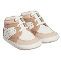 Baby Girls Pink Leather High-Top
