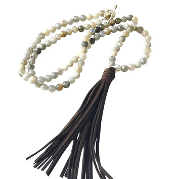 Abley Labradorite Tassel Long Necklace