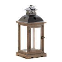 Large Rustic Wood Lantern