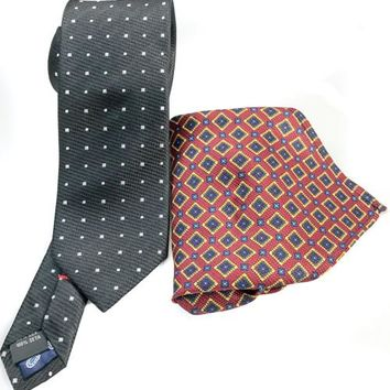 Men's Pure Italian Silk Necktie and Pocket Square Set