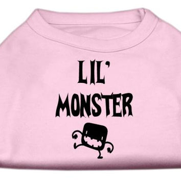 Lil Monster Screen Print Shirts Pink Sm (10)