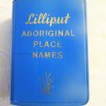 Lilliput Aboriginal Place Names Miniature Book 1968 1st Edition Auckland New Zealand Vintage Gift