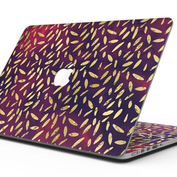 Daisy Pedals Over Red and Blue Cloud Mix - MacBook Pro with Retina Display Full-Coverage Skin Kit
