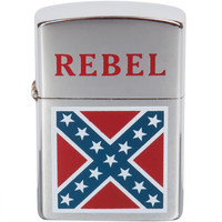 Small Rebel Flag Refillable Lighter