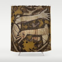 I Got You Embrace Grunge Shower Curtain by Amy Anderson | Society6