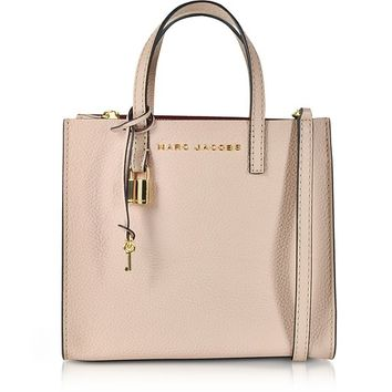 Marc Jacobs Rose Leather The Mini Grind Tote Bag
