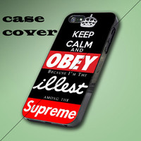Keep Calm and Obey Illest Supreme Black Design iPhone 4/4S, 5/5S/5C Case, Samsung Galaxy S3/S4 Case