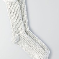 AEO Women's Textured Lace Socks (Grey)