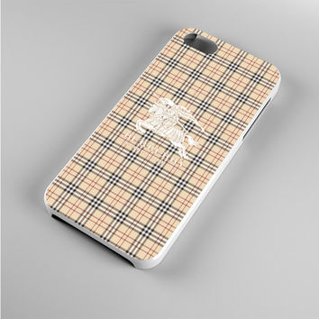 Burberry White Logo Iphone 5s Case