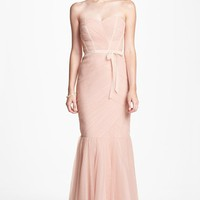 Women's Monique Lhuillier Bridesmaids Tulle Trumpet Dress,
