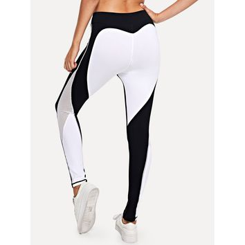 Colorblock Skinny Leggings