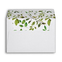 Elegant Greenery Botanical Foliage Envelope