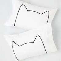 Cats Feline Sleepy Pillowcase Set by ModCloth