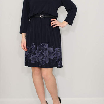 Navy Dress Day dress Short dress Floral dress