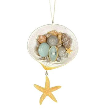 St. Nicholas Square Seashell Christmas Ornament