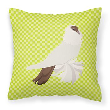 German Helmet Pigeon Green Fabric Decorative Pillow BB7770PW1818