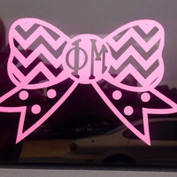 Phi Mu Chevron Decal