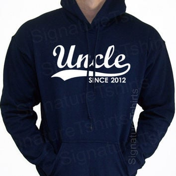 UNCLE Since New Personalized with Any Year Hooded Sweatshirt Hoodie 2012 Father's Day gift Christmas 2013 S-2XL