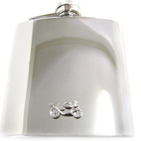 Motorcycle 6 oz. Stainless Steel Flask