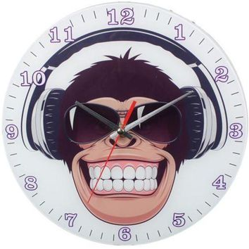 MDIGMS9 Happy Monkey Wall Clock