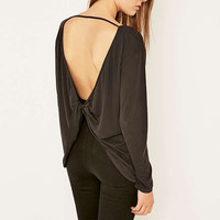 Light Before Dark Cupro Twisted Back Top - Urban Outfitters