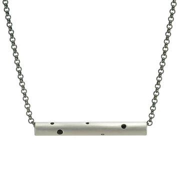 Holes Fine Silver Necklace