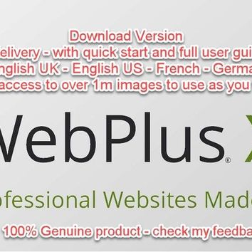 Serif WebPlus X8 ESD - Download - Instant Delivery! + free access to 1m images! | eBay