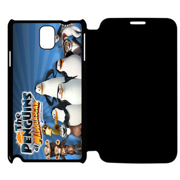 The Penguins of Madagascar Samsung Galaxy Note 4 Flip Case Cover
