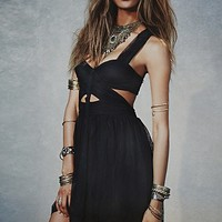 Free People Womens Love Lace Taping Dress