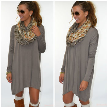 Becoming Royalty Mocha Long Sleeve Dress