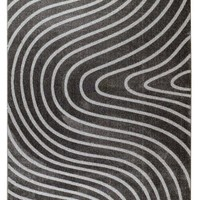 3040 Dark Gray Polyester Area Rugs