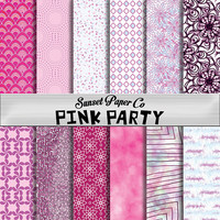 Digital Paper Pack - Pink Party