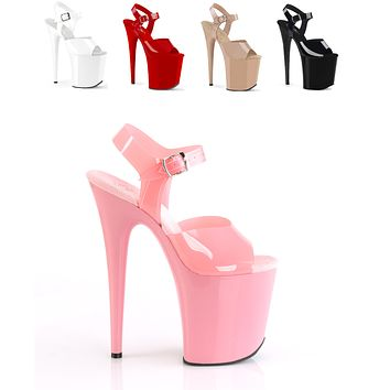 "Flamingo 808N Jelly Upper 8"" Ankle Strap Platform Heels - Sandals"