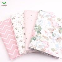 New 4 pic/lot 40x50cm Cotton Fabric for Sewing Quilting Patchwork Tissue baby dress Bedding tecidos DIY Doll cloth fabrics K314