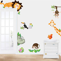 Lovely Animal Zoo Nursery Removable Wall Sticker Art Vinyl Decal Decor Mural Kids Home Decor