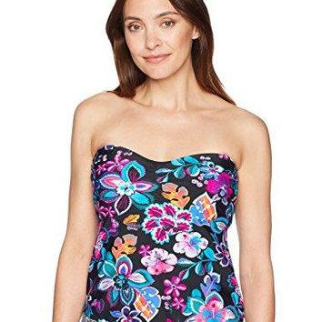 24th amp Ocean Womens Bandeau Tankini Swimsuit Top