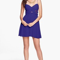 Hailey Logan Cutout Chiffon Dress (Juniors)