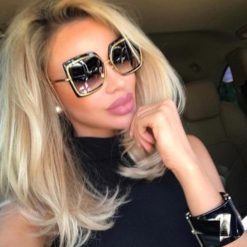 Sunglasses Cat Eye Pink Woman Shades Mirror Female Square Coating Gafas 2018 Fas